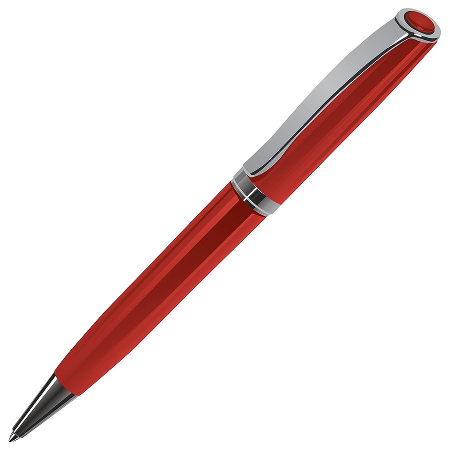 STATUS, ручка шариковая, красный/хром, металл