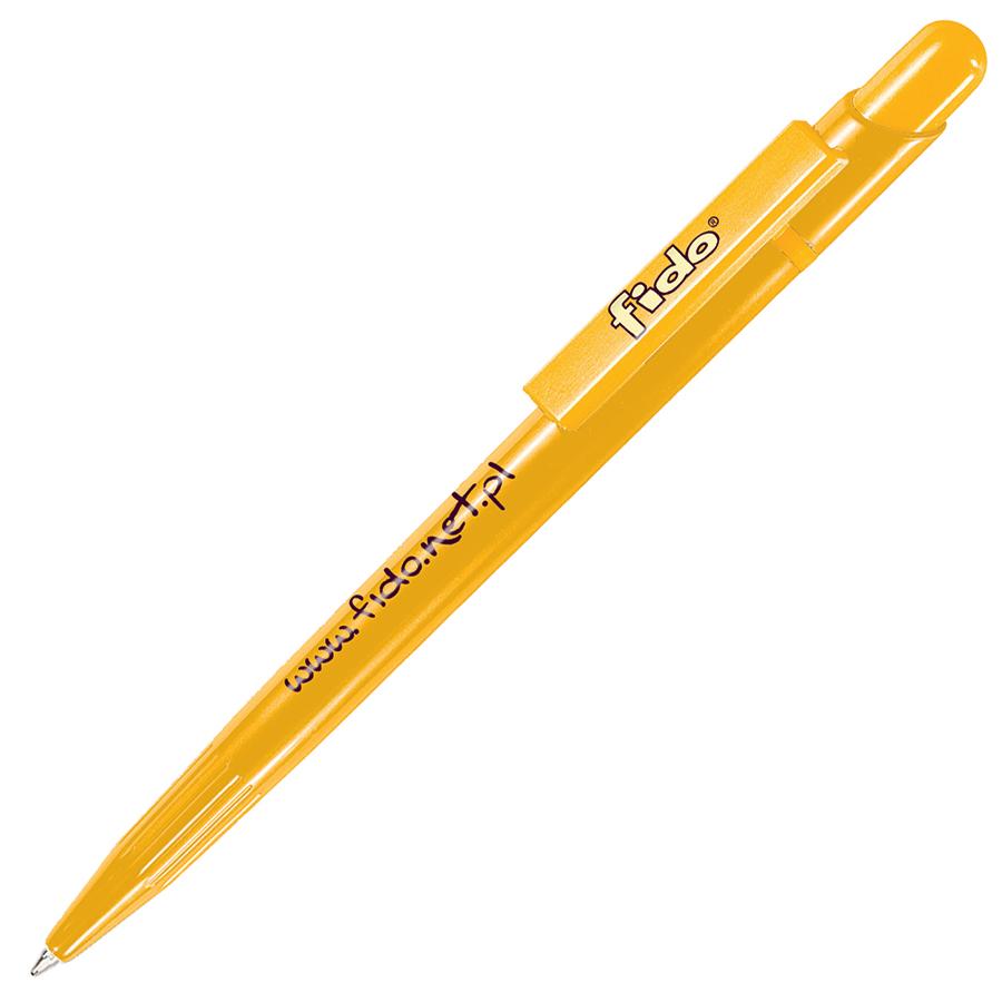 MIR, ручка шариковая, желтый, пластик