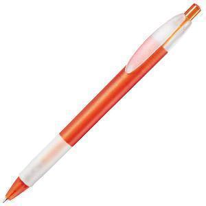 X-1 FROST GRIP, ручка шариковая, фростированный оранжевый/белый, пластик