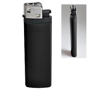 Зажигалка кремневая ISKRA, черная, 8,18х2,53х1,05 см, пластик/тампопечать