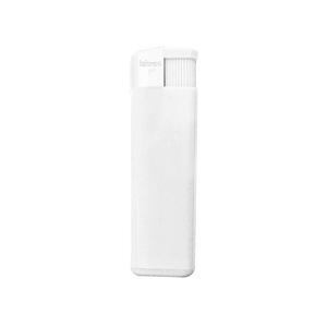 Зажигалка пьезо ISKRA, белая, 8,24х2,52х1,17 см, пластик/тампопечать