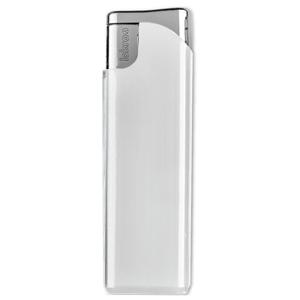 Зажигалка пьезо ISKRA, белая, 7,9х2,4х0,91 см, пластик/тампопечать