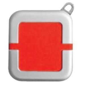 Зажигалка; красный; 4х4,4х1,1 см; металл, пластик