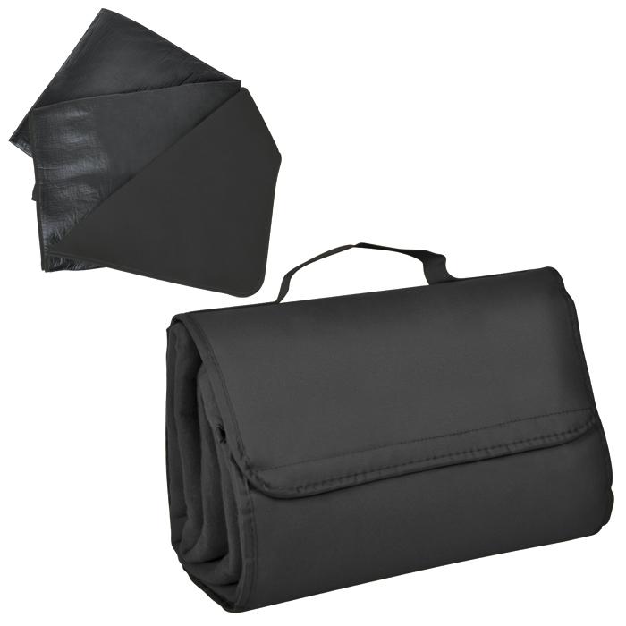 """Коврик для пикника """"SUNDAY"""". Черный, 600 D полиэстер+флис+водоотталкивающее покрытие,150*135 см"""