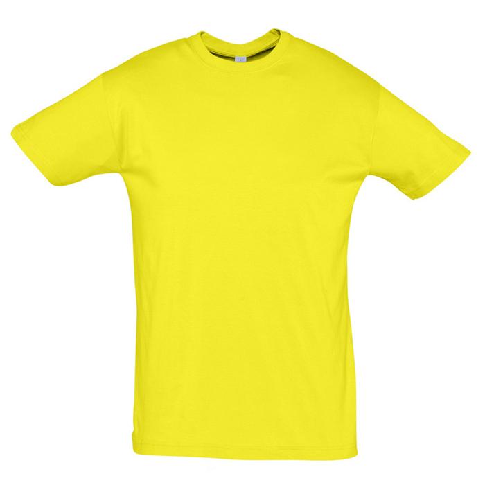 "Футболка ""Regent"", лимонный_M, 100% х/б, 150 г/м2"