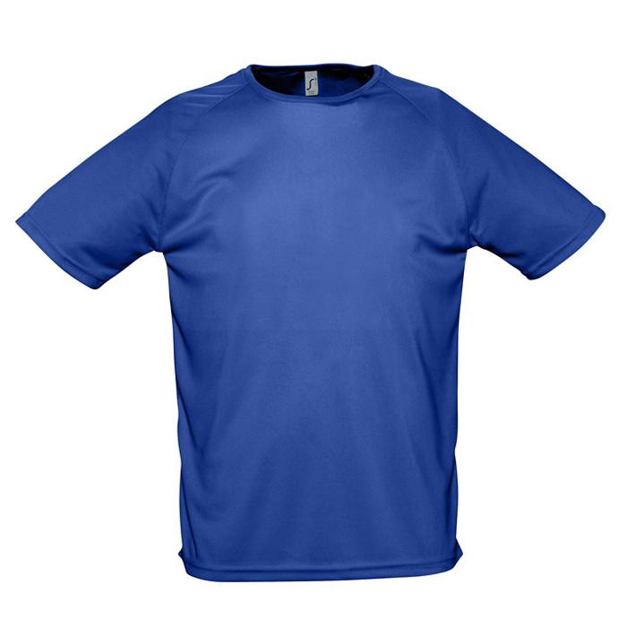 "Футболка ""Sporty"", ярко-синий_S, 100% воздухопроницаемый полиэстер, 140 г/м2"