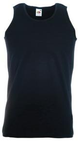 """Майка мужская """"Athletic Vest"""", черный_L, 100% х/б, 160 г/м2"""