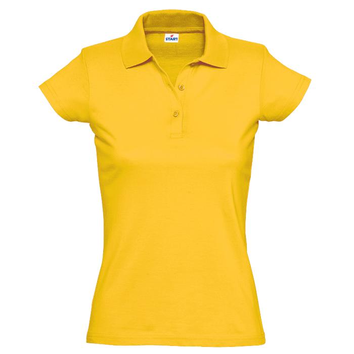 "Поло ""Miss Style"" джерси, 100% хлопок, 170 г/м2, желтый_S"