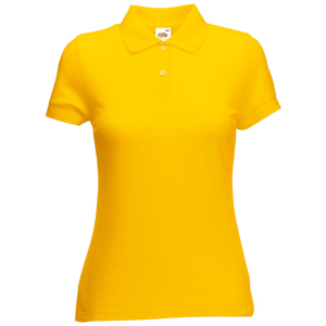 "Поло ""Lady-Fit 65/35 Polo"", солнечно-желтый_L, 65% п/э, 35% х/б, 180 г/м2"