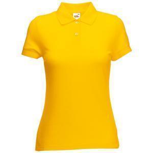 "Поло ""Lady-Fit 65/35 Polo"", солнечно-желтый_М, 65% п/э, 35% х/б, 180 г/м2"