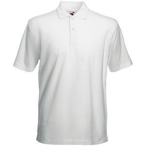 "Поло ""Heavy Polo"", белый_2XL, 100% х/б, 230 г/м2"