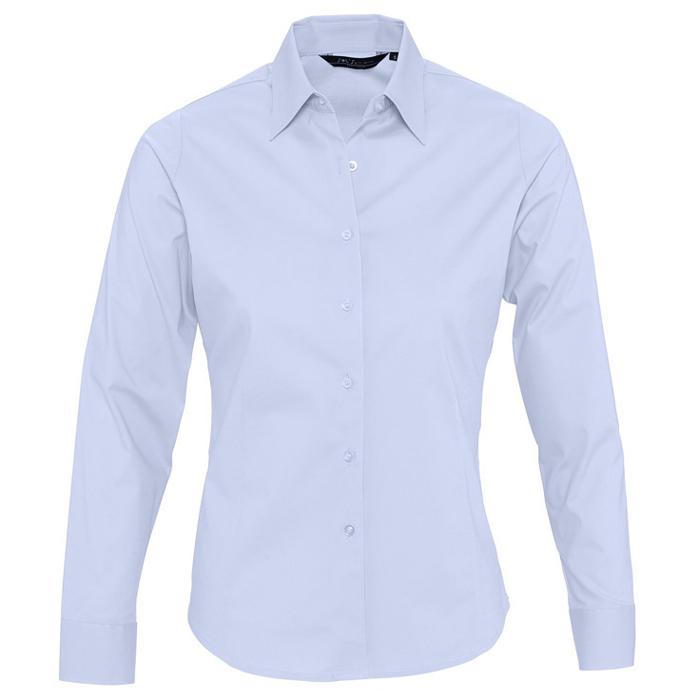 "Рубашка ""Eden"", небесно-голубой_L, 97% хлопок, 3% эластан, 140г/м2"