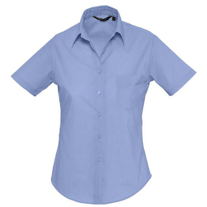 """Рубашка""""Escape"""", васильковый_L, 65% полиэстер, 35% хлопок, 105г/м2"""