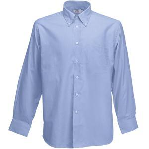 "Рубашка ""Long Sleeve Oxford Shirt"", светло-голубой_XL, 70% х/б, 30% п/э, 135 г/м2"