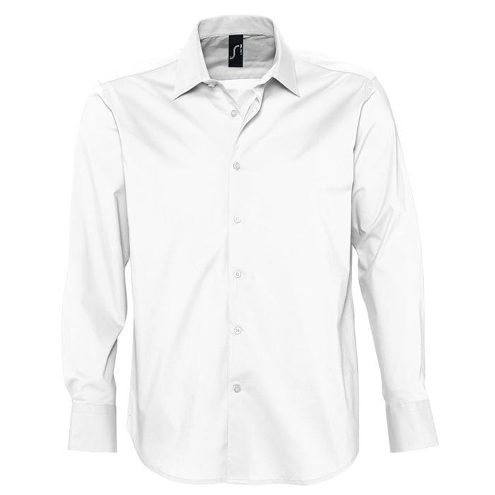 "Рубашка ""Brighton"", белый_XL, 97% хлопок, 3% эластан, 140г/м2"