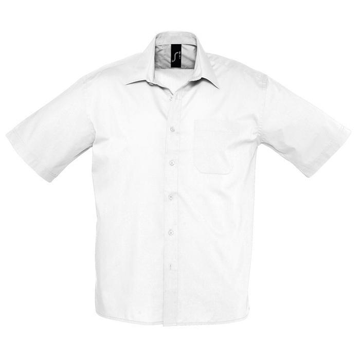 "Рубашка""Bristol"", белый_4XL, 65% полиэстер, 35% хлопок, 105г/м2"