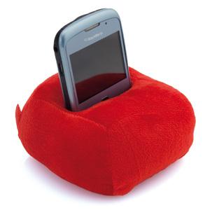 """Подставка для мобильного телефона """"Пуф""""; красная; 12х6х12см; полиэстер;"""