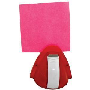 Мемо-холдер со скотчем; красный с белым; 6,5х6х7 см; пластик; тампопечать