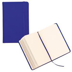 Блокнот для записей;синий; 9,5х14,5х1,6 см.; искусственная кожа; шелкография
