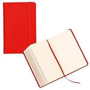Блокнот для записей;красный; 9,5х14,5х1,6 см.; искусственная кожа; шелкография