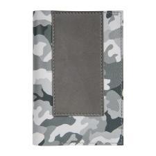 """Обложка для паспорта,""""Military"""",серый камуфляж, кожа натуральная 100%"""