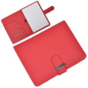 """Папка А5 с блокнотом """"Classic"""",красная,17,5х23х1,7см, искусственная кожа"""