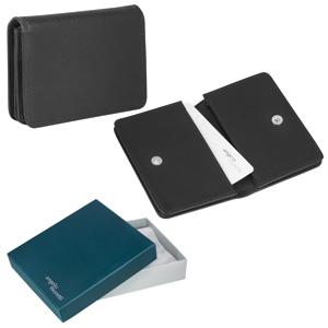 "Футляр для визиток  ""Триест"",  9.5*7 см,  кожа, подарочная упаковка"