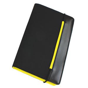 "Визитница ""New Style"" на резинке  ( (60 визиток); черный с желтым; 19,8х12х2 см; нейлон;"