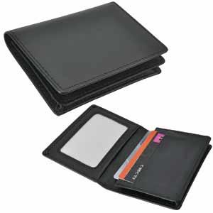Футляр для карт; черный; 11,1х8х1,7 см; иск. кожа; тиснение блинтом