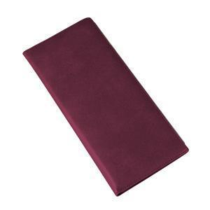 Визитница (128 визиток); бордовый; 12х26,3 см; искуccтвенная кожа; шелкография