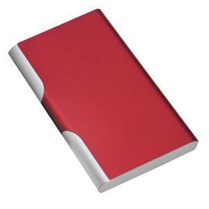 Визитница с брелоком; красный; 9,6х6,2 см; металл; лазерная гравировка, тампопечать