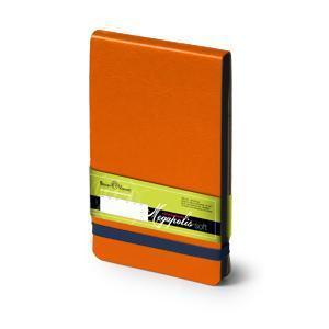 Еженедельник датированный Megapolis Soft, А6, оранжевый, бежевый блок, черный обрез