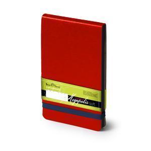 Еженедельник  датированный Megapolis Soft, А6, красный, бежевый блок, черный обрез