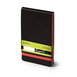 Еженедельник датированный Megapolis Soft, А6, черный, бежевый блок, красный обрез