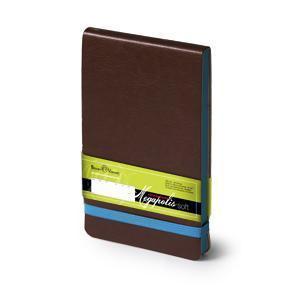 Еженедельник  датированный Megapolis Soft, А6, коричневый, бежевый блок, голубой обрез