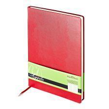Ежедневник недатированный Megapolis, А4, красный, бежевый блок, без обреза, ляссе