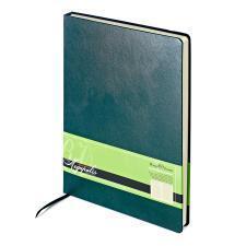 Ежедневник недатированный Megapolis, А4, зеленый, бежевый блок, без обреза, ляссе