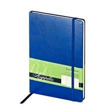 Ежедневник-блокнот недатированный Megapolis-Journal, А5, синий, бежевый блок, без обреза
