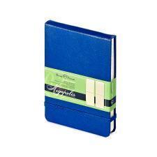Ежедневник-блокнот недатированный Megapolis-Reporter, А6, синий, бежевый блок, без обреза
