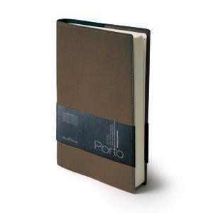 Ежедневник портфолио полудатированный Porto, А5, коричневый, бежевый блок, без обреза,