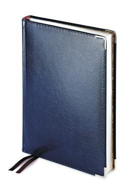 Ежедневник полудатированный Imperium, А5+, синий, бежевый блок, серебряный обрез, два ляссе, карта