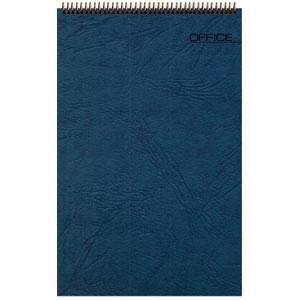 Блокнот Office синий, А6, 94х130 мм, верхний гребень, белый блок, клетка, 60 листов