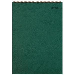 Блокнот Office зеленый, А4, 198х285 мм, верхний гребень, белый блок, клетка, 60 листов