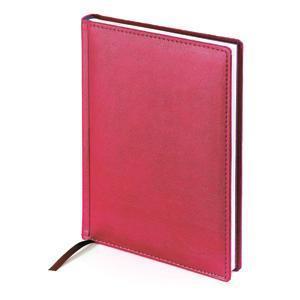 Ежедневник датированный Leader, А5, красный, белый блок, без обреза