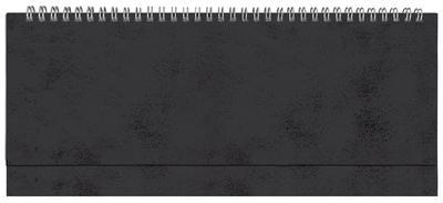 Планинг недатированный, Бумвинил, черный, 295х100 мм, белый блок, открытый гребень