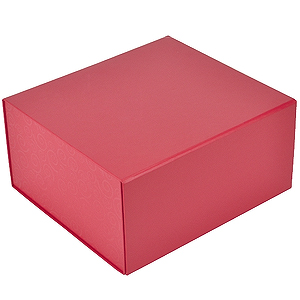 Коробка подарочная складная,  красный, 22 x 20 x 11 cm,  кашированный картон,  тиснение, шелкография