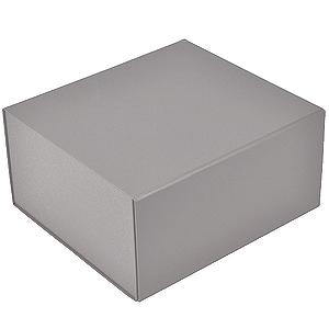 Коробка подарочная складная,  серебристый, 22 x 20 x 11cm,  кашированный картон,  тиснение, шелкогр.