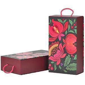 """Коробка подарочная  """"Калинка"""", складная,  31,5х18х8 см,  кашированный картон"""