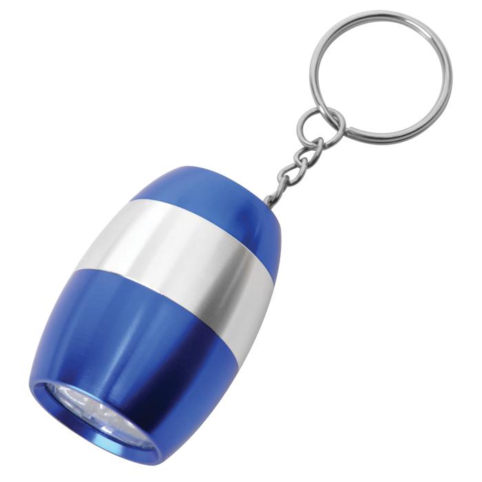 Брелок с фонариком; синий, 3,2х4,5х2,5см, металл
