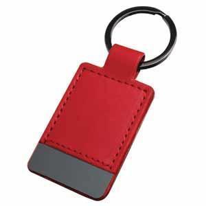 """Брелок """"Магия черного"""" прямоугольный; красный; 10х4 см; металл, иск. кожа; лазерная гравировка"""